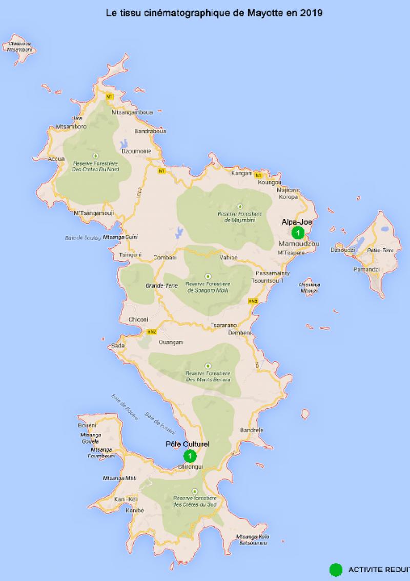 Carte Mayotte - Données CNC 2019