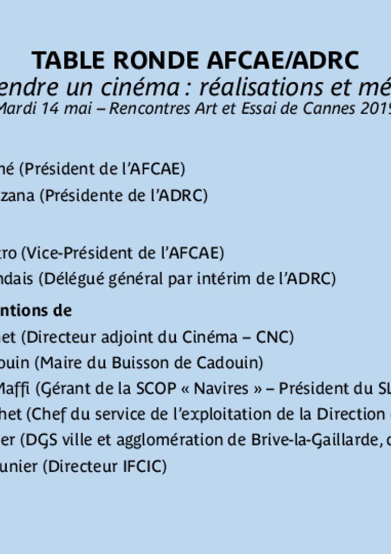 Présentation Table Ronde AFCAE ADRC